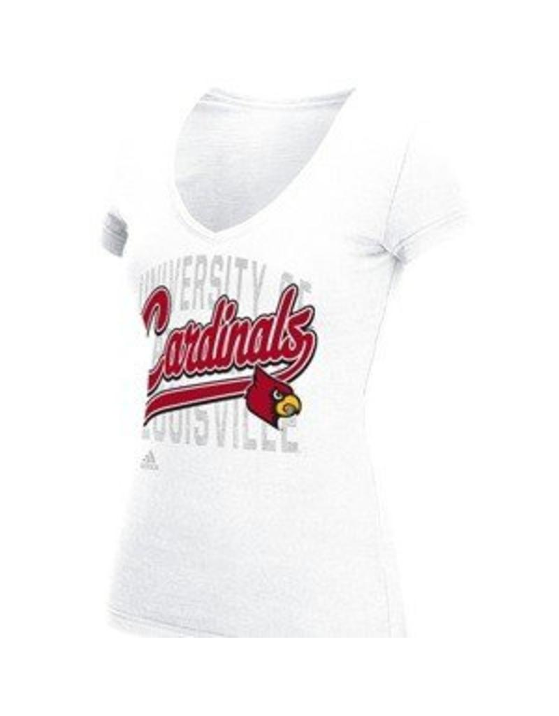 Adidas Sports Licensed TEE, LADIES, SS, ADIDAS, SHADOW, WHITE, UL