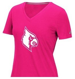 Adidas Sports Licensed TEE, LADIES, SS, PINK LOGO, UL