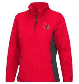 Colosseum Athletics PULLOVER, LADIES, 1/4 ZIP, HIGH BAR, RED, UL
