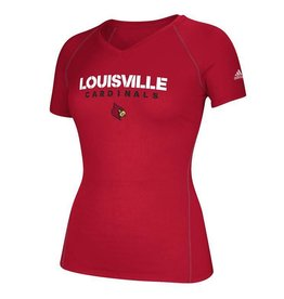 Adidas Sports Licensed TEE, LADIES, SS, ADIDAS, SIDELINE, RED, UL