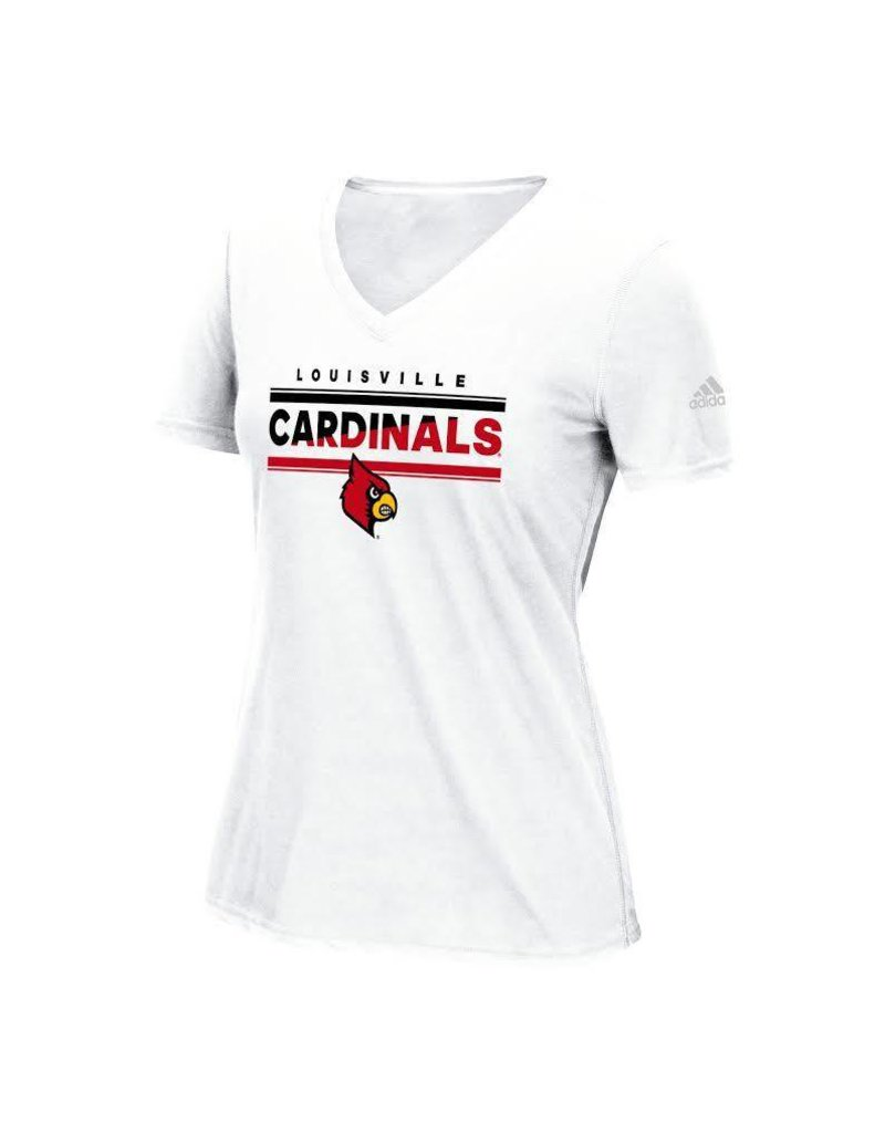 Adidas Sports Licensed TEE, LADIES, ADIDAS, WHITE, UL
