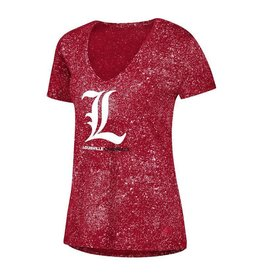 Adidas Sports Licensed TEE, LADIES, ADIDAS, LOGO, RED, UL