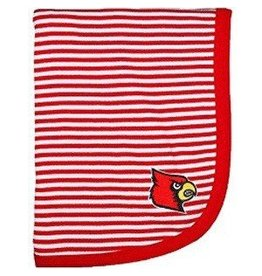 Creative Knitwear BLANKET, INFANT, STRIPED, RED, UL