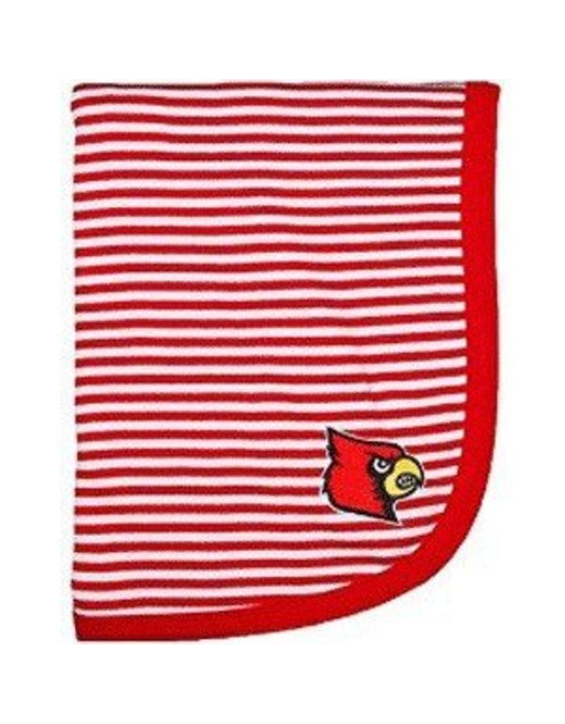 Creative Knitwear BLANKET, INFANT, STRIPED, RED, UL