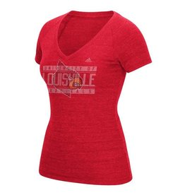 Adidas Sports Licensed TEE, LADIES, ADIDAS, RHINESTONE, RED, UL