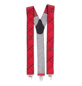 Eagles Wings Neck Tie SUSPENDERS, RED, UL