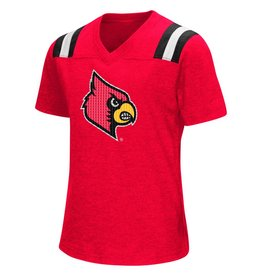 Colosseum Athletics TEE, YOUTH, SS, GIRLS, BUGBY, RED, UL