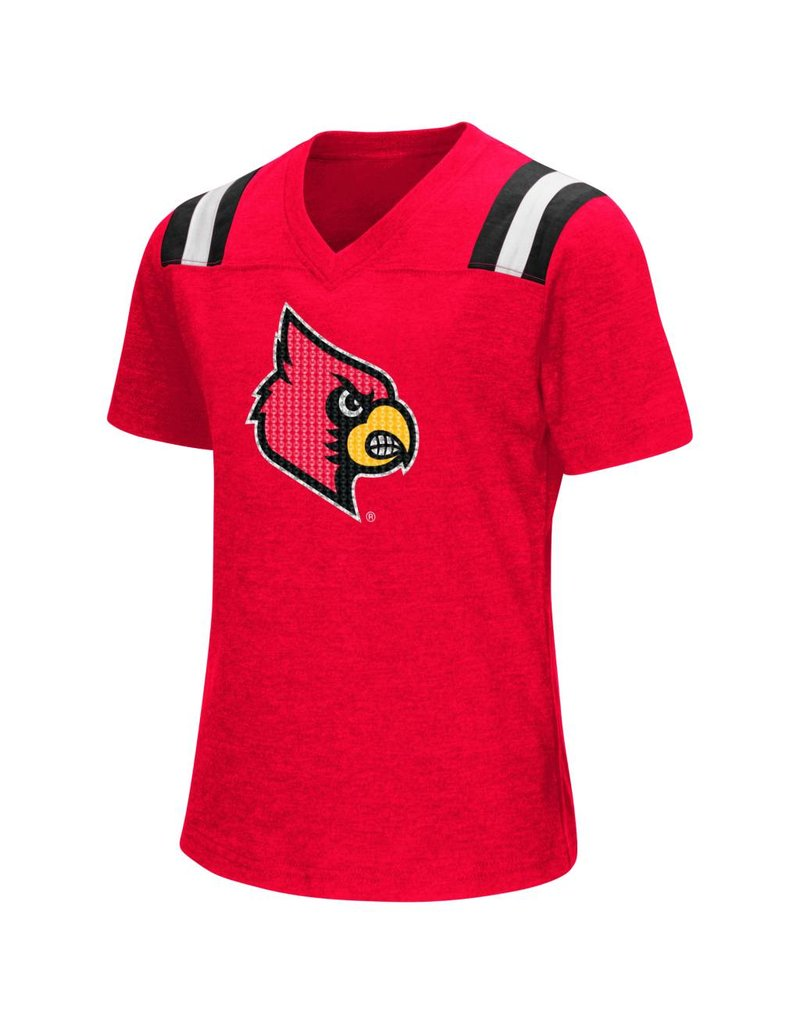 Colosseum Athletics TEE, YOUTH, GIRLS, BUGBY, RED, UL