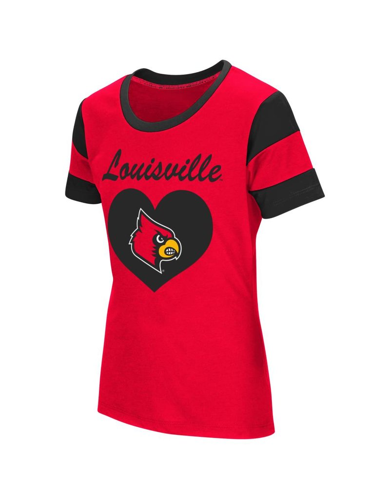 Colosseum Athletics TEE, YOUTH, GIRLS, SS, MEDAL, RED, UL