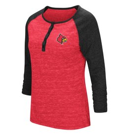 Colosseum Athletics TEE, LADIES, 3/4 SLEEVE, SLOPE, RED, UL