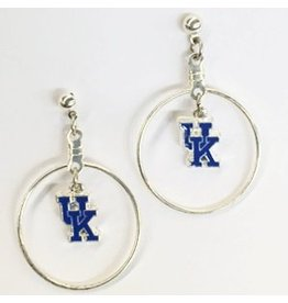 EARRINGS, POST, DANGLE HOOP, UK