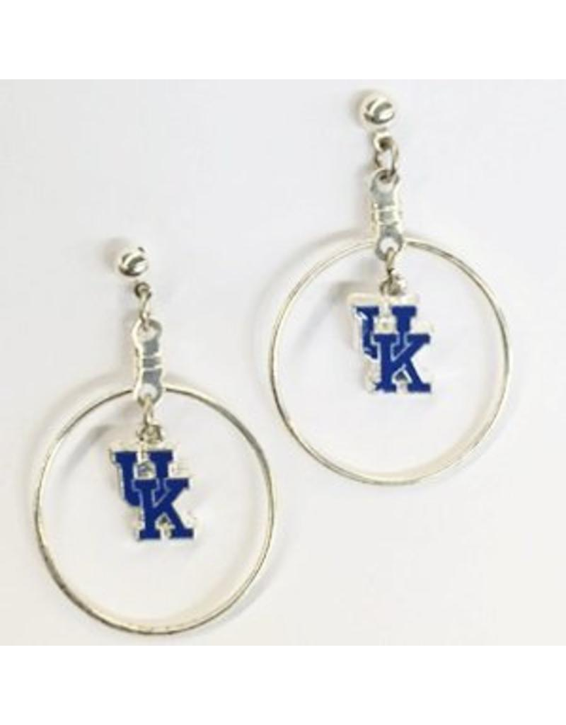 EARRINGS, DANGLE HOOP, UK