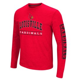 Colosseum Athletics TEE, LS, SKY BOX, RED, UL