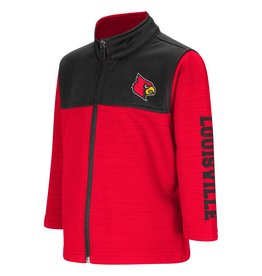 Colosseum Athletics JACKET, TODDLER, FULL-ZIP, CLUTCH, RED/BLACK, UL
