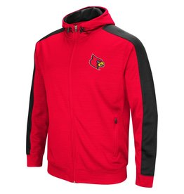 Colosseum Athletics HOODY, FULL-ZIP, SETTER, RED/BLACK, UL