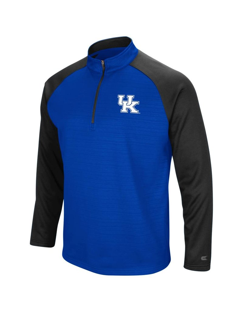Colosseum Athletics PULLOVER, 1/4 ZIP, SETTER, ROYAL/BLACK, UK
