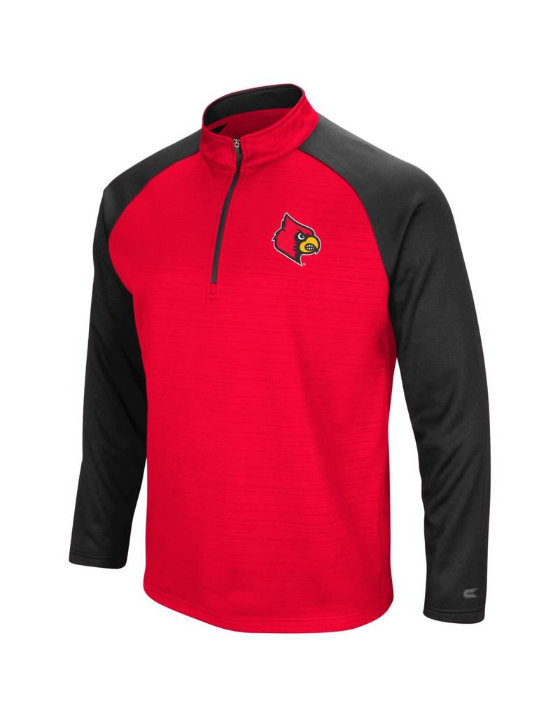 Colosseum Athletics PULLOVER, 1/4 ZIP, SETTER, RED/BLACK, UL