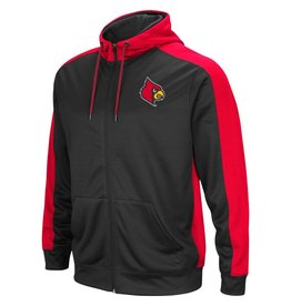 Colosseum Athletics HOODY, FULL-ZIP, TAKE OVER, CHARCOAL/RED, UL