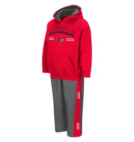Colosseum Athletics SET, TODDLER, PUNTER HOODY, RED/GRY, UL