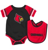 Colosseum Athletics INFANT SET, ONSIE & BIB, ROLL-OUT, RED/BLACK, UL