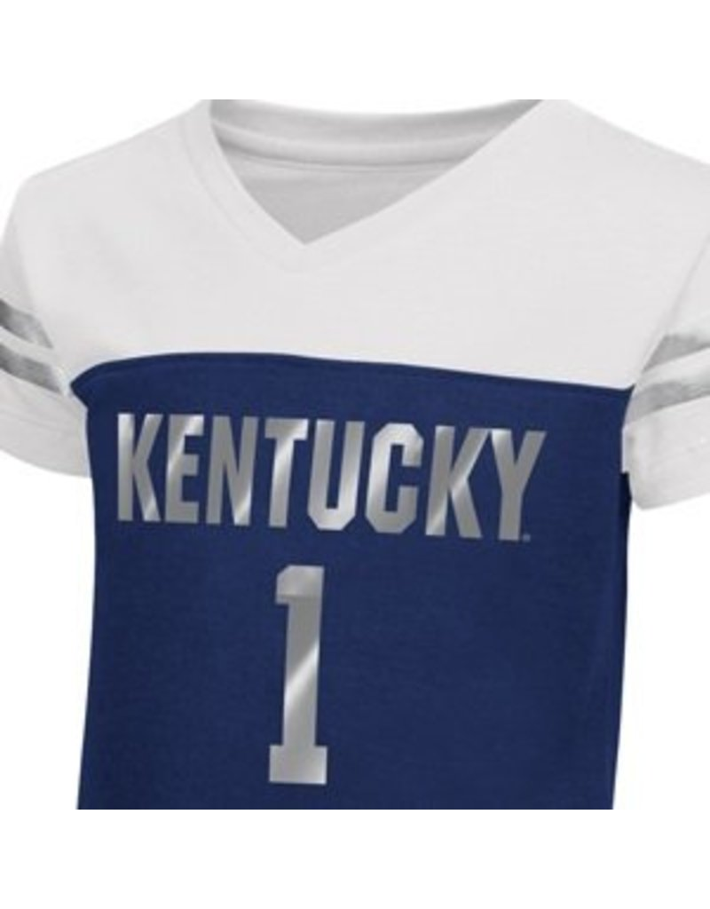 Colosseum Athletics TEE, TODDLER, GIRLS, SS, NICKLE, WHITE/ROYAL, UK