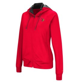 Colosseum Athletics HOODY, LADIES, FULL-ZIP, MEDLEY, RED, UL