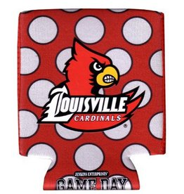 Kentucky Souvenirs CAN HUGGIE, POLKA, RED/WHITE, UL