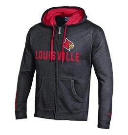 Champion Products HOODY, FULL ZIP, HERITAGE, BLK/RED, UL