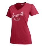 Gear for Sports TEE, LADIES, SS, V-NECK, MIA, RED, UL