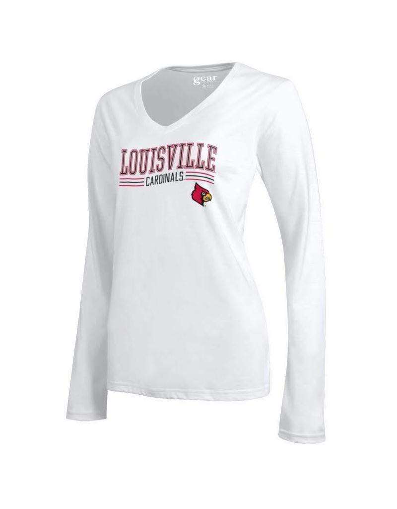 Gear for Sports TEE, LADIES, LS, MIA, WHITE, UL
