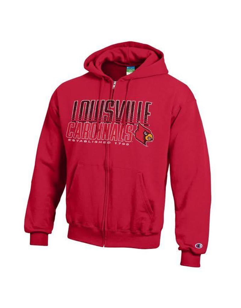 Champion Products HOODY, FULL ZIP, RED, POWER, UL