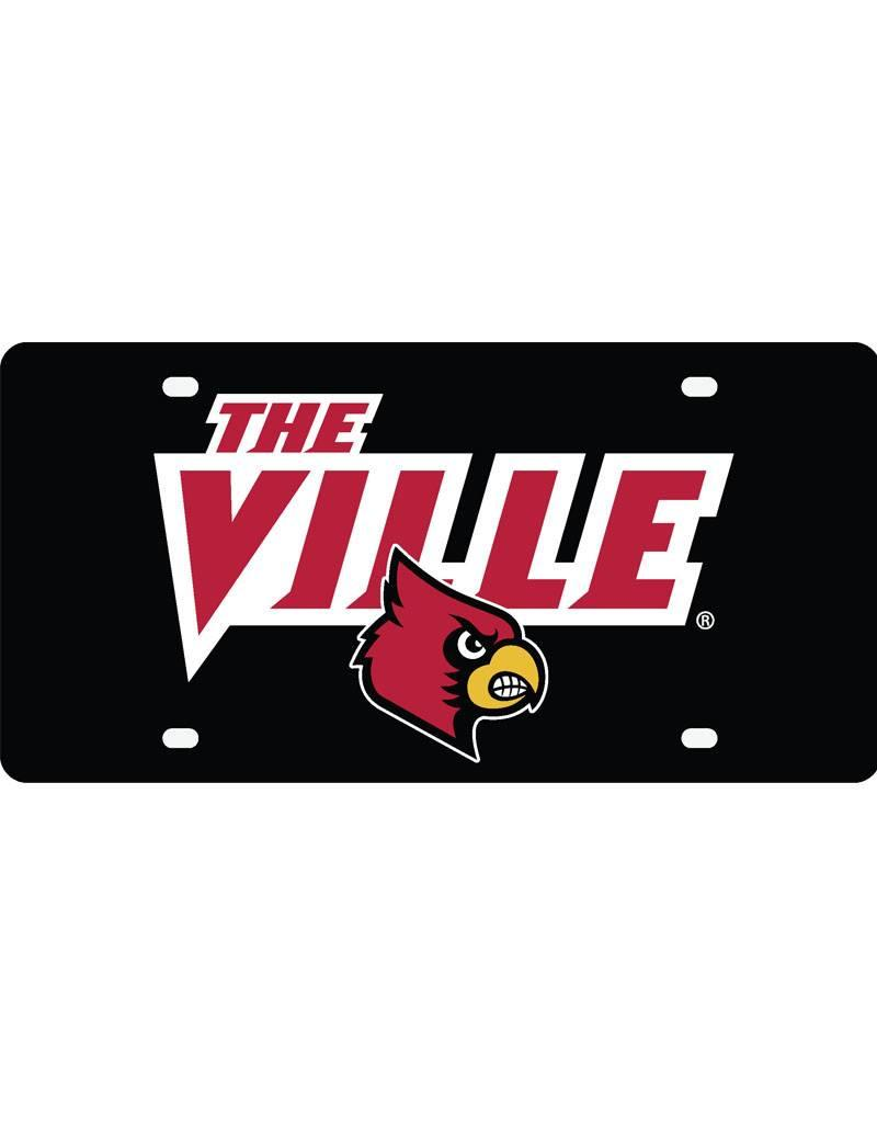 Stockdale Technologies LICENSE PLATE, BLACK, THE VILLE, UL