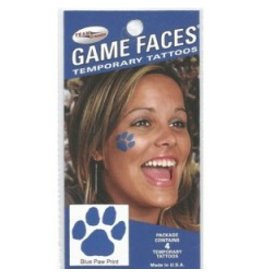 Fan A Peel FACE TATTOOS, PAW, 4 PIECE, UK