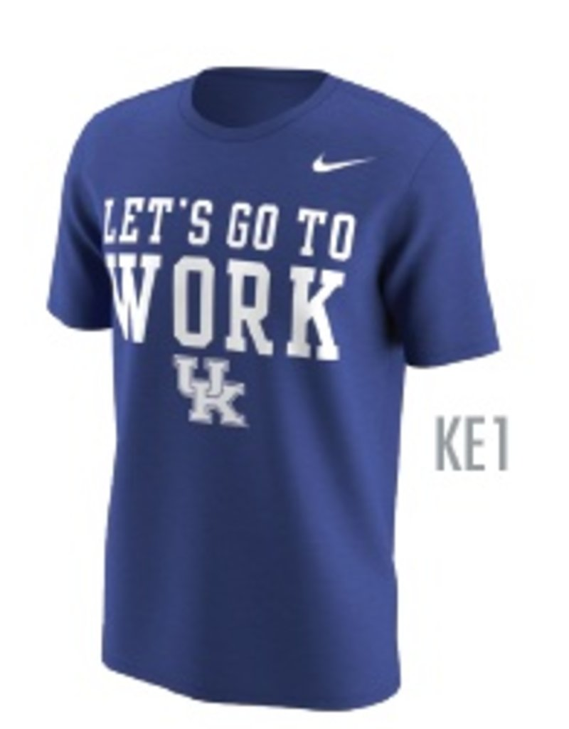 Nike Team Sports TEE, SS, NIKE, GO TO WORK, ROYAL, UK