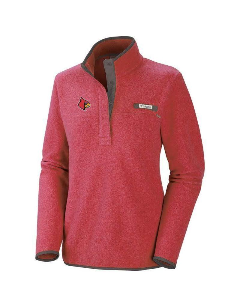 PULLOVER, LADIES, 1/2 BUTTON,  HARBORSIDE, RED, UL