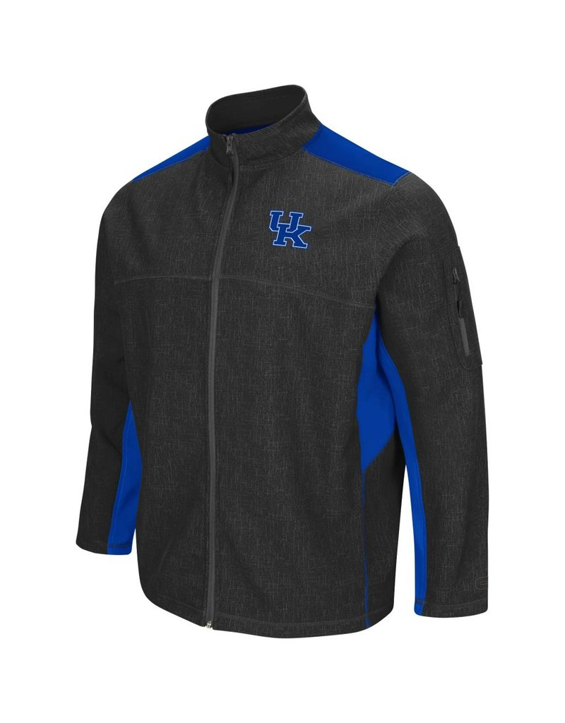 Colosseum Athletics JACKET, FULL-ZIP,  ACCEPTOR, CHARCOAL/ROYAL, UK