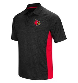 Colosseum Athletics POLO, WEDGE, BLACK/RED, UL