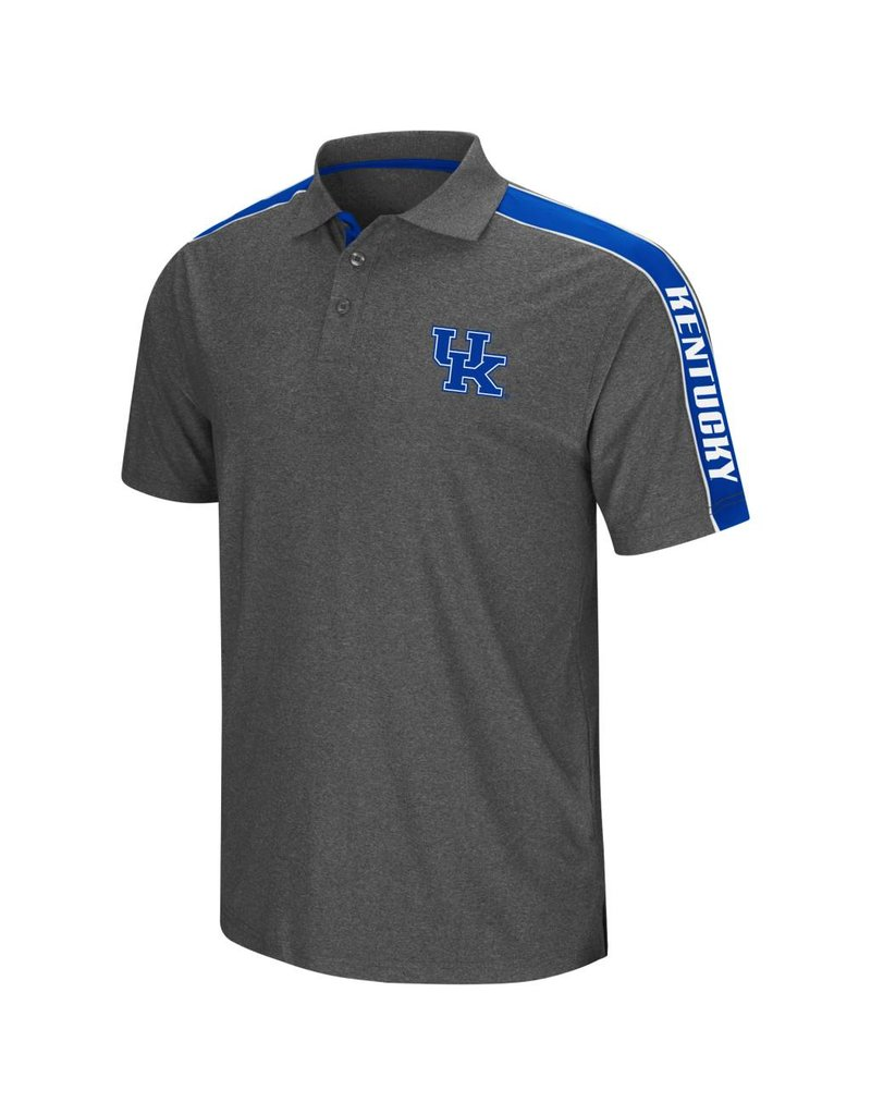 Colosseum Athletics POLO, SOUTHPAW, CHARCOAL/ROYAL, UK