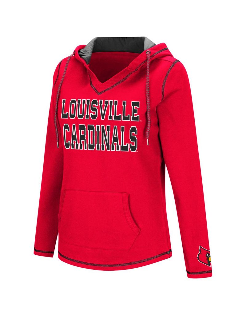 Colosseum Athletics HOODY, LADIES, SPIKE, RED/BLACK, UL