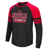 Colosseum Athletics TEE, LS, HYBRID, BLACK/RED, UL