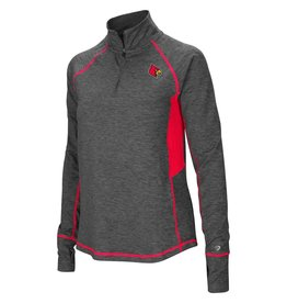 Colosseum Athletics PULLOVER, LADIES, 1/4 ZIP, SABRE, CHARCOAL/RED, UL