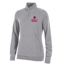 Champion Products PULLOVER, LADIES, 1/4 ZIP, GRAY, UL