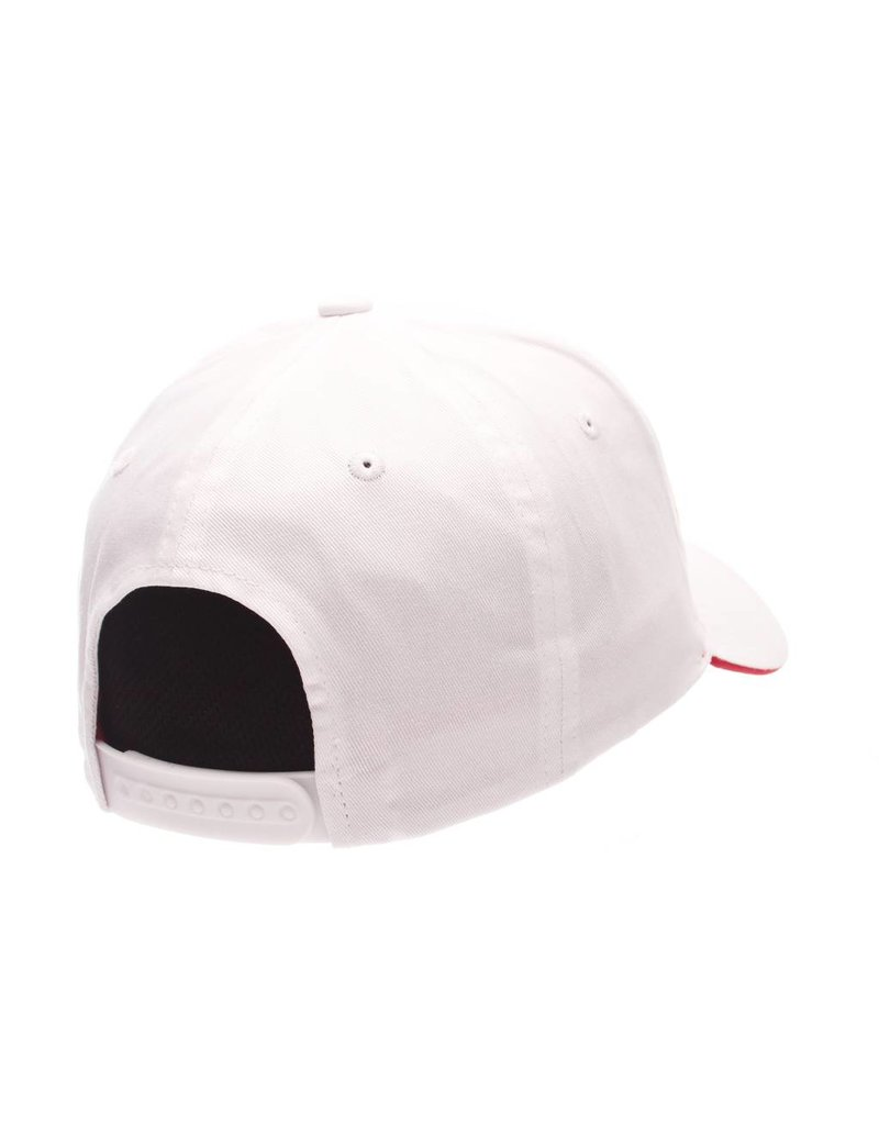 HAT, ADJUSTABLE, CROSSOVER, WHITE, UL