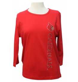 CREW,LADIES, 3/4 SLEEVE,CARDINALS,RED,UL