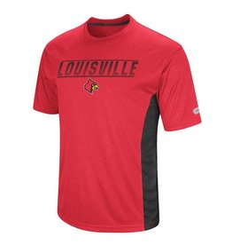 Colosseum Athletics TEE, SS, BEAMMER, RED/BLACK, UL