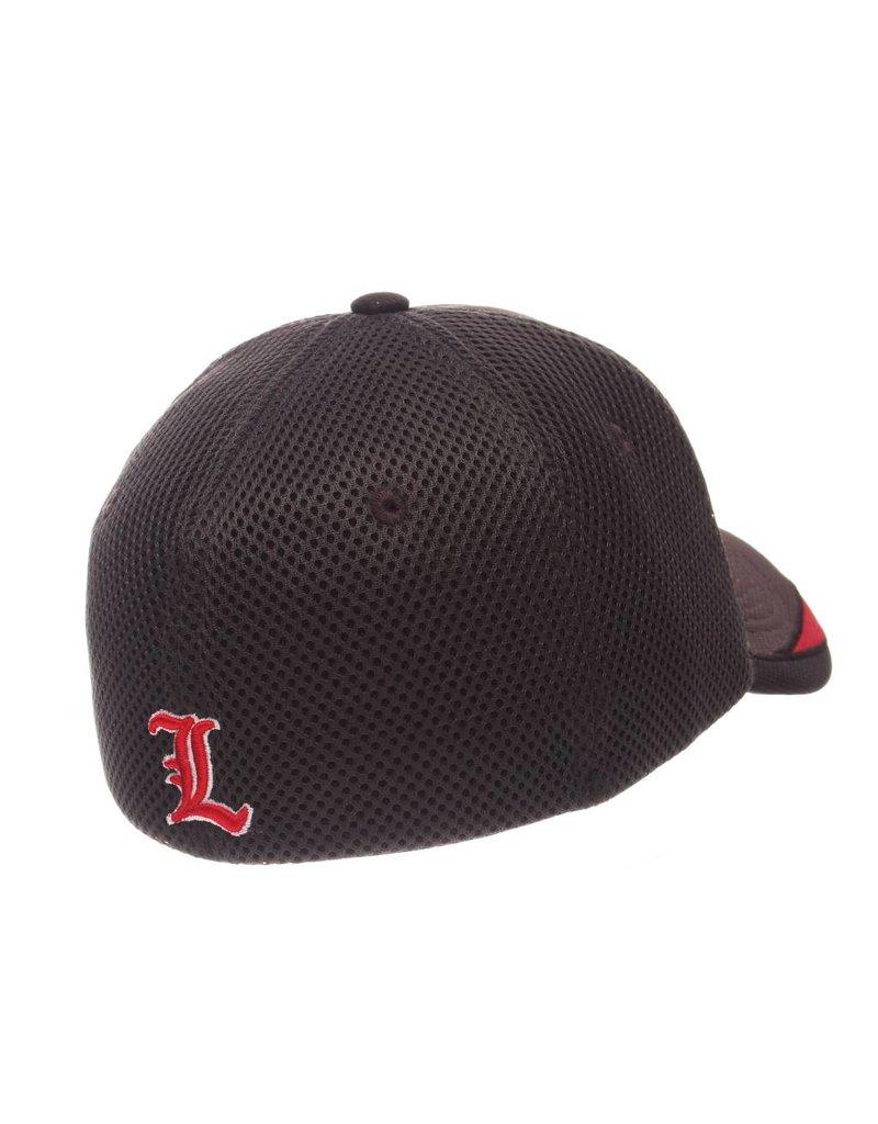 HAT, FLEX FIT, TORQUE, CHAR/RED, UL
