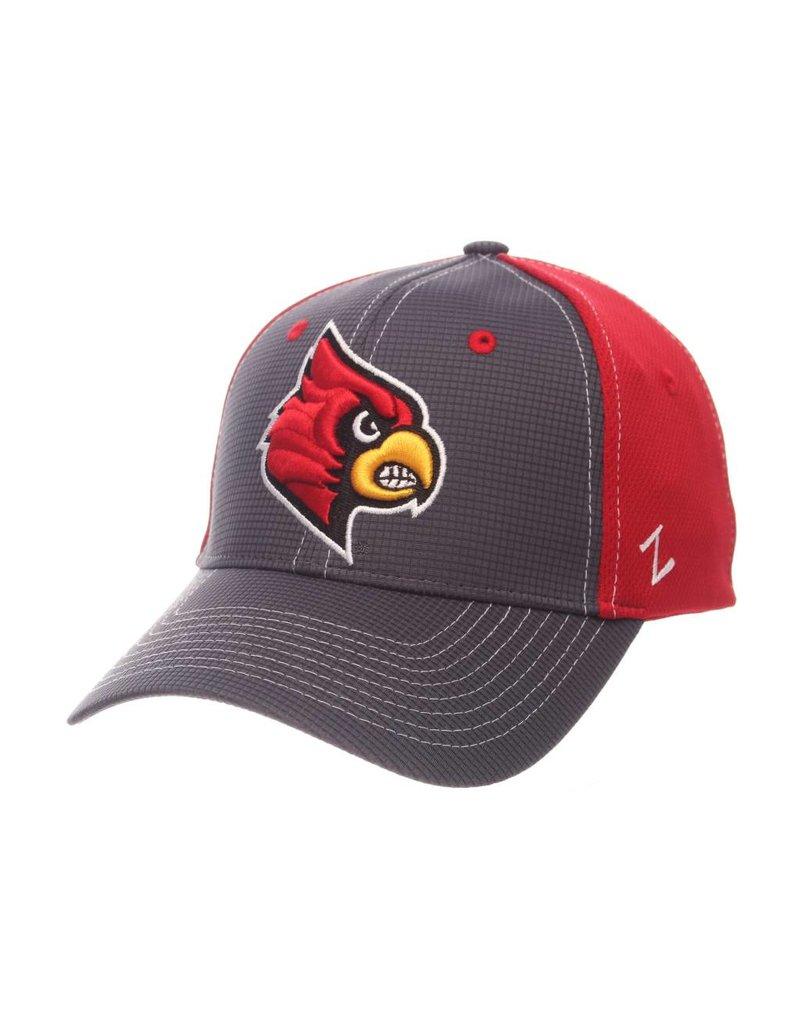 HAT, FLEX FIT, GRID, GRY/RED, UL