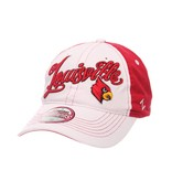 HAT, LADIES, ADJUSTABLE, VOGUE, WHITE/RED, UL