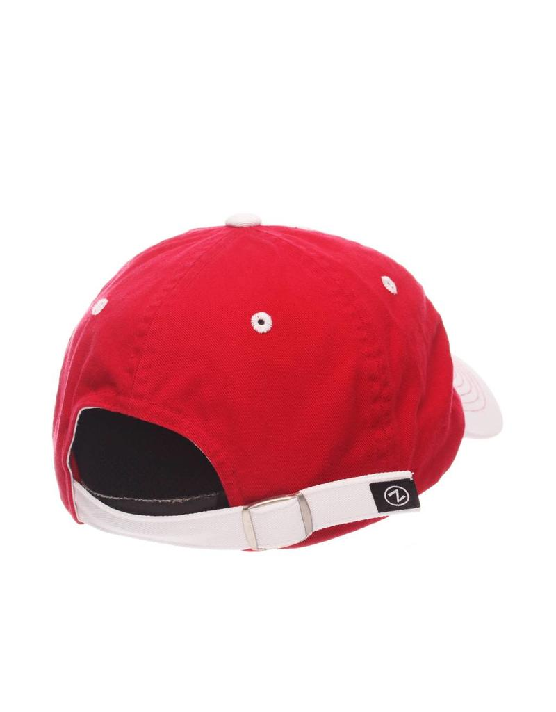 HAT, LADIES, ADJUSTABLE, VOGUE, WHT/RED, UL