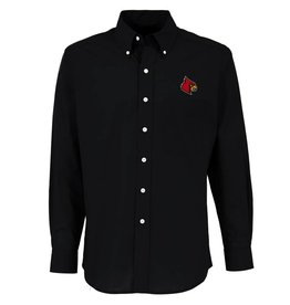 Antigua Group DRESS SHIRT, LS, DYNASTY, BLACK, UL